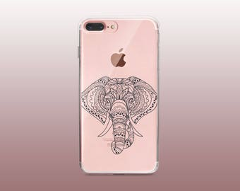 Elephant Clear TPU Phone Case for iPhone 8- iPhone 8 Plus - iPhone X - iPhone 7 Plus-iPhone 7-iPhone 6-iPhone 6S-Samsung S8