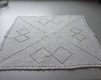 crochet white doily