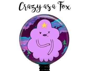 Adventure Time Lumpy Space Princess Retractable Badge Holder, Badge Reel, Lanyard, Stethoscope ID Tag, Nurse, RN, Doctor, Nursing student