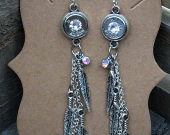 Angel feather earrings