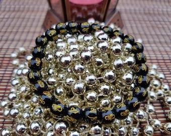 Black Onyx Bracelet, Onyx Gemstone Bracelet, Black Bracelet, Simple Minimal Beaded Bracelet, Root Chakra Stone, Yoga Jewelry, Onyx Jewelry