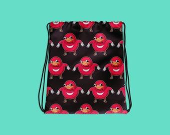 Ugandan Knuckles - Do you know da wae? - Illustration - Drawstring bag