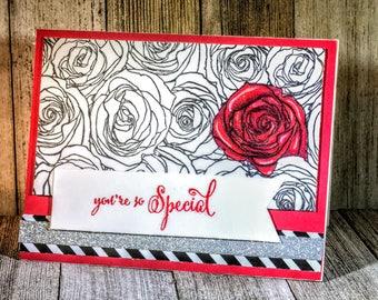 You're Special Valentine Handmade card