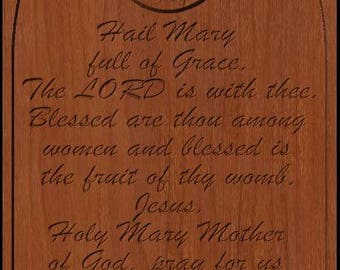 Hail Mary Prayer Carving