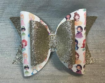 Princess Bow // Glitter Bow// Disney Inspired Bow // Disney Bows