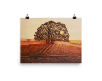 Print - Sunset Tree