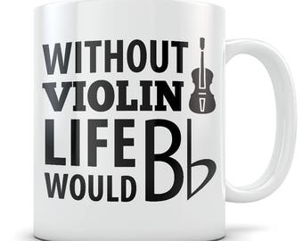 Violin gift, violin mug, violin gift for women, violin player, violin gift idea, violin themed gifts, violin teacher gifts mug