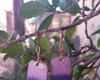 two tone copper earrings