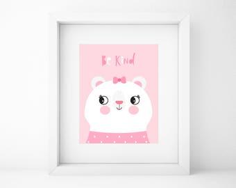 Baby animal prints,baby animal printable art,nursery wall art,printable wall art,nursery decor,baby girl room,pink print,bear print,woodland