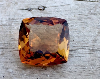 62.60 Carates Very Beautiful Faceted Brown Color Topaz With Beautiful Luster From Pakistan.