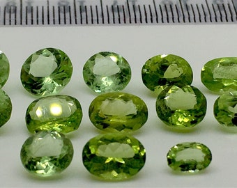 24.40 Carates very Beautiful Faceted Mint Green Color Peridot From Pakistan.
