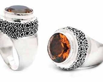 Citrine Silver Ring