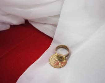 Ring, US dollar, coin ring, fashion jewelry