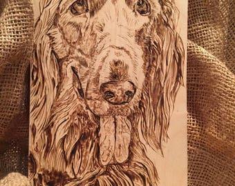Pet Portrait Customized Wood Burned