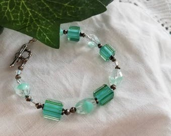 Gorgeous ~ taste of mint bracelet ~ handcrafted