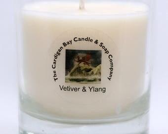 vetiver and ylang ylang natural soy candle