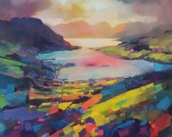Scott Naismith  framed art 'Ballachulish' Scottish atmospheric  paintings