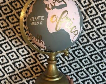 Hand Painted Mini Globe