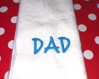 Dad Embroidered Towel