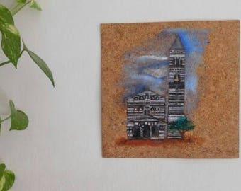 """Oil-cork Picture """"Church Prov Sassari"""""""