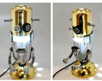 Robot Metal Art, ETY Mike Man, Home decor and gift for Valentine Day Anniversary Birthday