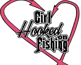 Girl Hooked On Fishing Decal