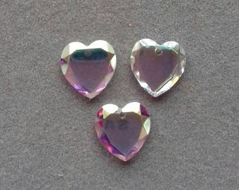 Vintage Crystal Hearts