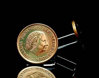Netherlands  coins cufflinks. Netherlands 5 Cents - Juliana coins cufflinks.Wedding cufflinks. Juliana, Queen of the Netherlands cufflinks.