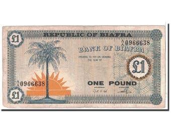 biafra 1 pound 1967 km2 vf(30-35)