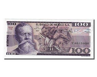 mexico 100 pesos 1982 km #74c 1982-03-25 unc(65-70) y4615996
