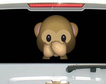Monkey Face Emoji With Hands Over Mouth Speak No Evil