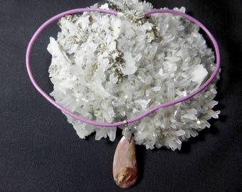 Agate Canada in 950 silver necklace