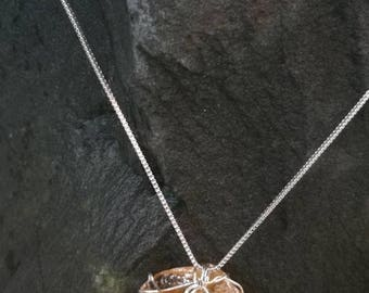 Rough citrine healing crystal necklace