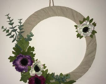 Anenome floral wreath