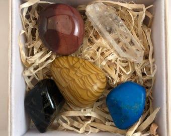 Crystal & Stone Healing Box Set