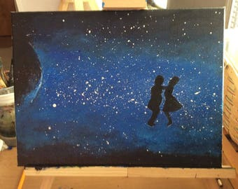 Dancing in the Sky Painting Valentine's