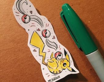 Catch em all! Pikachu fan art sticker