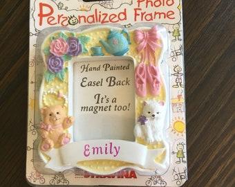 EMILY personalized photo frame fridge magnet