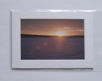 Sunrise on the lake - 5x7