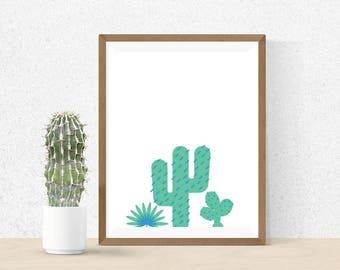 Cactus - Wall Art Print Digital Download