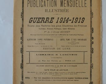 Monthly illustrated war 14-19 / book / Old french school book