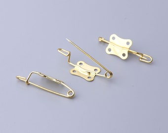 butterfly shaped safety pins 20pcs 30*5mm pins brooch gold pins colthes safety pins fastening clothes