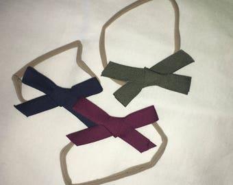 Nylon Headbands with bows