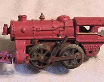 Cast Iron Wind Up Train Engine