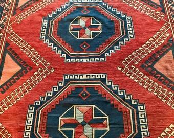 Antique Turkish Oushak Carpet.
