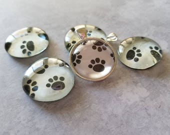 Cat Paw Decorated, Magnets, Necklace Pendant, Cabochon