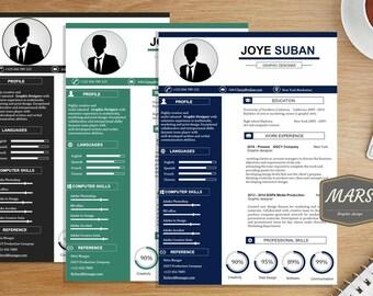 Professional Resume templates/ Modern CV / Creative Resume / Cover letter / Resume CV/ Graphic design Resume /