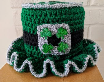 Irish Home Toilet Paper Tissue Roll Hat Cover Bathroom Decor St. Patrick's Day Shamrock N