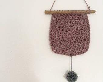 Square crochet tapestry