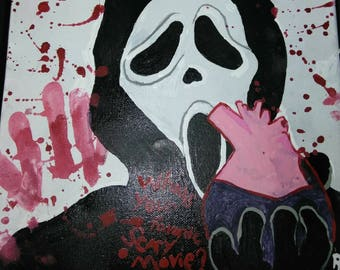 Scream// Ghostface Heart Painting
